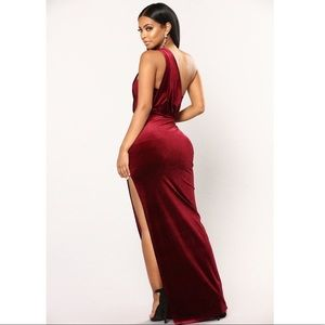 Fashion Nova Dresses - Velvet One Shoulder Strap Dress